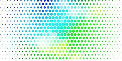 layout vettoriale azzurro, verde con forme circolari.