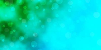 struttura di vettore blu chiaro, verde con dischi.