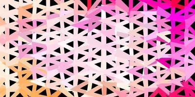 modello triangolo astratto vettoriale rosa chiaro.
