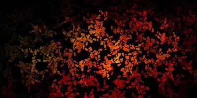 modello vettoriale arancione scuro con forme astratte.