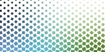 layout vettoriale azzurro, verde con linee, rettangoli.