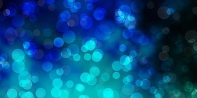 texture vettoriale blu scuro con dischi.