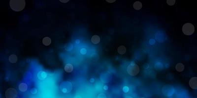 modello vettoriale blu scuro con cerchi.