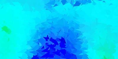 blu scuro, verde vettore poli triangolo texture.