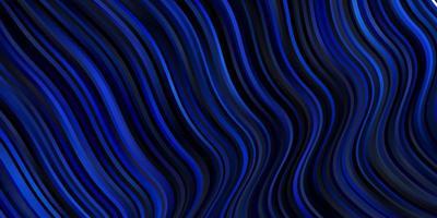 modello vettoriale blu scuro con linee.