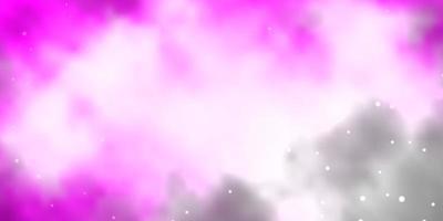 trama vettoriale rosa chiaro con bellissime stelle.