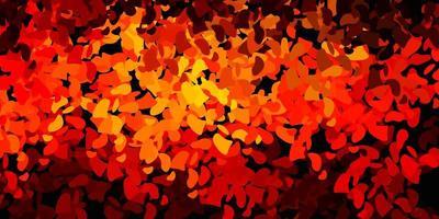modello vettoriale arancione scuro con forme astratte