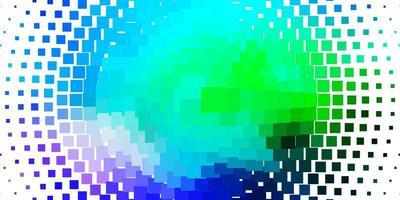 sfondo vettoriale azzurro, verde con rettangoli.