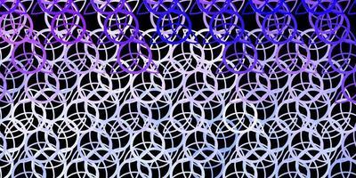 sfondo vettoriale viola scuro con simboli misteriosi.