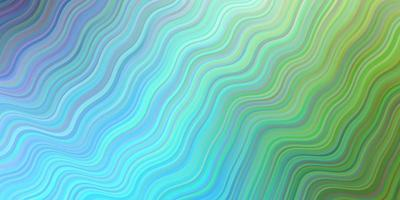 sfondo vettoriale azzurro, verde con linee curve.
