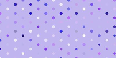 layout vettoriale viola chiaro con forme circolari.
