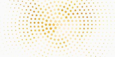 trama vettoriale arancione chiaro con bellissime stelle.