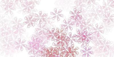 sfondo astratto vettoriale rosa chiaro con foglie.