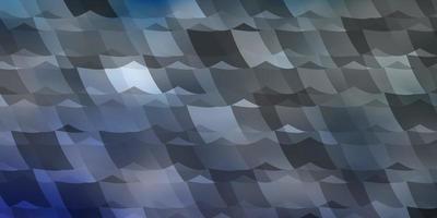 sfondo vettoriale azzurro con esagoni.