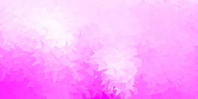 carta da parati poligonale geometrica di vettore rosa chiaro.