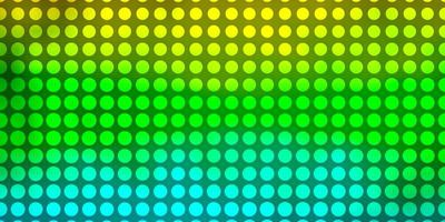 sfondo vettoriale azzurro, giallo con cerchi.