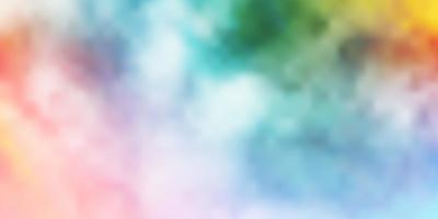 trama vettoriale multicolore leggera con cielo nuvoloso.