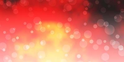 modello vettoriale rosso scuro, giallo con cerchi.