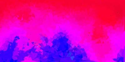 layout poligonale geometrico vettoriale rosa scuro, rosso.