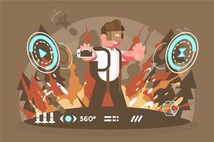 Illustrazione di esperienza di realtà virtuale