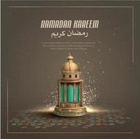 saluti islamici ramadan kareem card design template vettore