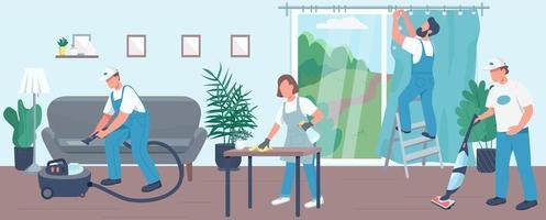 illustrazione vettoriale di pulizia domestica