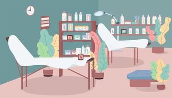 illustrazione di vettore di colore piatto salone di cosmetologia