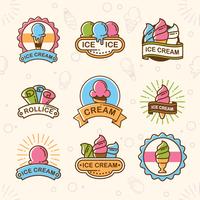 Logo del negozio di gelato vettore