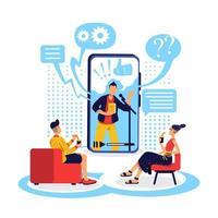 guarda l'illustrazione di vettore di concetto piatto webinar