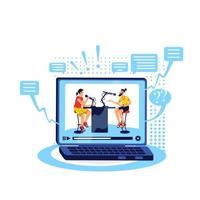 talk show online piatto concetto illustrazione vettoriale