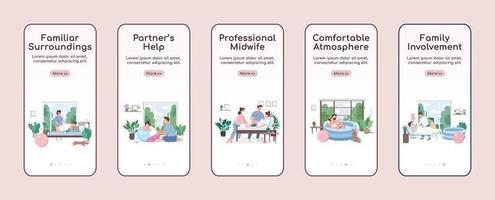 schermata dell'app mobile per la nascita del bambino a casa