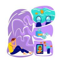 illustrazione di vettore di concetto piatto depressione