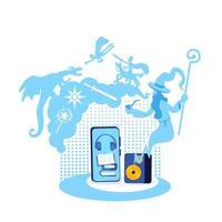 illustrazione di vettore di concetto piatto audiolibro fantasy