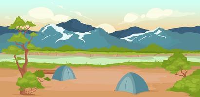 illustrazione vettoriale di campeggio