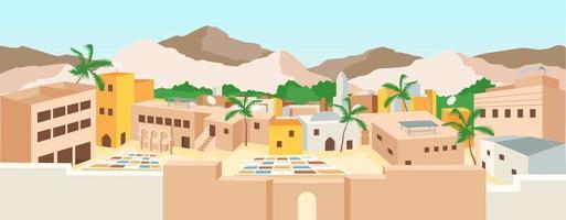 illustrazione vettoriale di medina tunisina