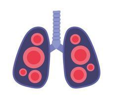polmoni con disegno vettoriale virus