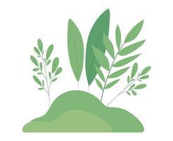 foglie isolate disegno vettoriale