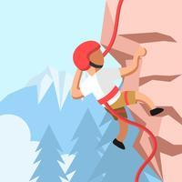 Vettore di arrampicata su roccia