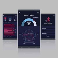applicazione mobile per l'illustrazione della salute