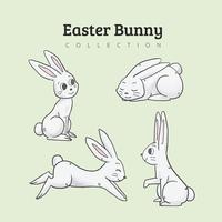 Raccolta di simpatici coniglietti vettore