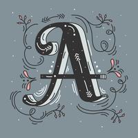 Lettera A illustrazione vettoriale