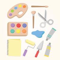 Vettore degli strumenti della pittura
