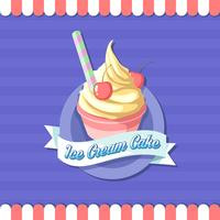 Vettore del logo del negozio della tazza del gelato