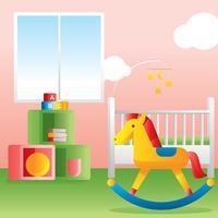Vettore rosa della decorazione della stanza dei bambini