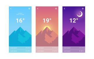 Vettori iconici della GUI per app mobili