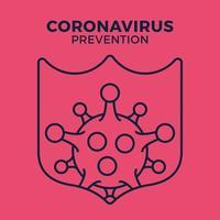 immune dall'icona del germe di influenza, protezione dai virus, scudo igienico, prevenzione batterica, simbolo web di linea sottile su sfondo bianco