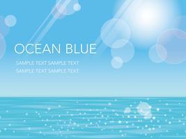 Un oceano estate senza soluzione di continuità, illustrazione vettoriale. vettore