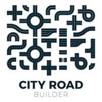 strada e strada con sentieri e incroci. elementi vettoriali per mappa della città. strada asfaltata strada traffico strade