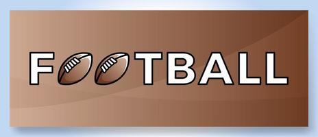 logo vettoriale tipografia parola calcio. logotipo di sport con attrezzature per l'illustrazione di vettore di progettazione di stampa