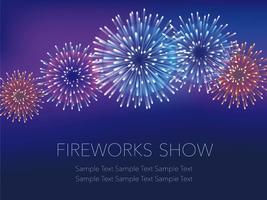 Uno sfondo di fuochi d'artificio con lo spazio del testo. vettore